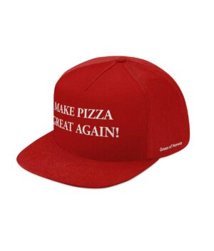 Caps med snapback og make pizza great again tekst