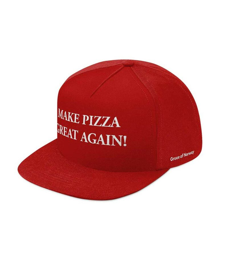 Caps med snapback og make pizza great again tekst