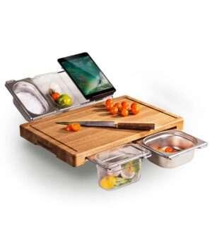 Rustfrie beholder til mat prepping stasjon
