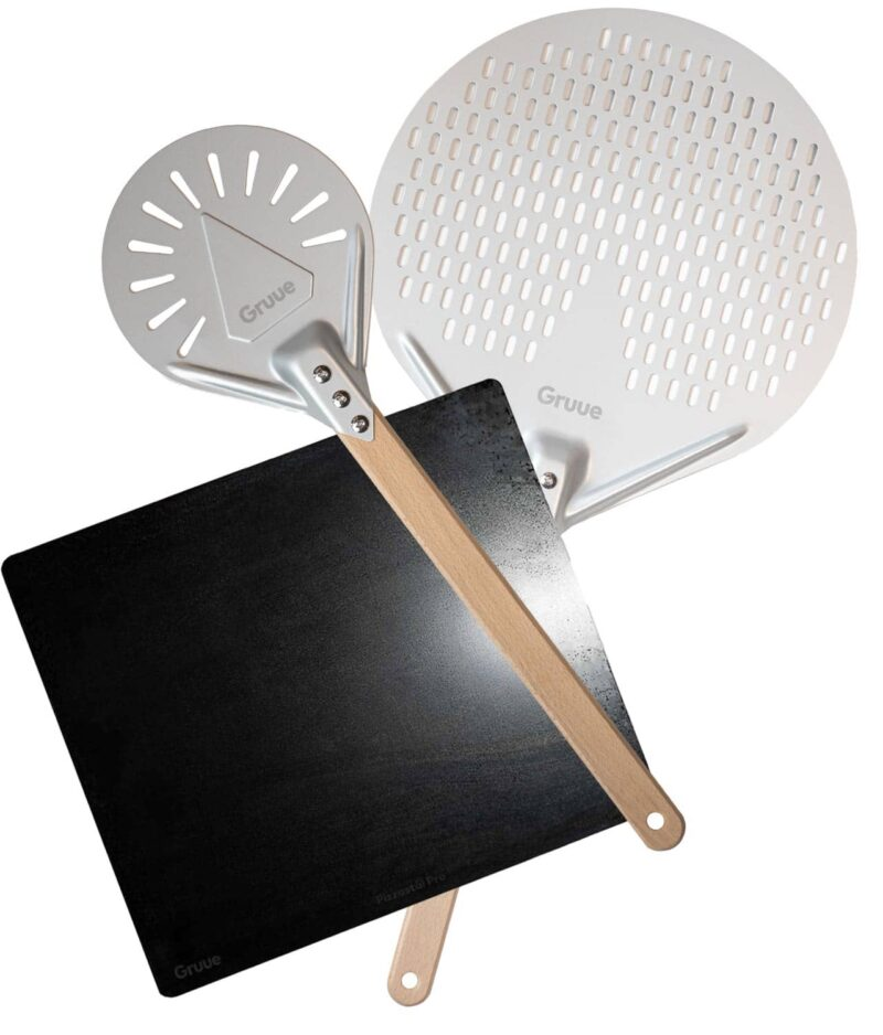 Beste pizzastål bakestål til vanlig ovn med proff pizzaspade og snuspade