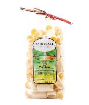 Håndtaget tørket pasta fra italia paccheri.